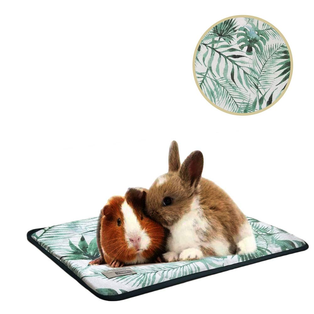 Oncpcare Summer Pet Small Animals Bed, Self-Cooling Small Animals Pad Resting Cozy Guinea Pig Pad Playing Kitty Mat Puppy Rug for Ferret Pig Squirrel Rabbit Chinchilla