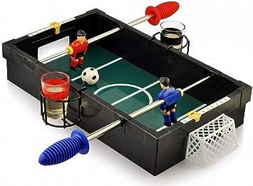 Framan Juego DE Mesa FUTBOLIN SOBREMESA VERSIÓN CHUPITOS: Amazon.es: Juguetes y juegos