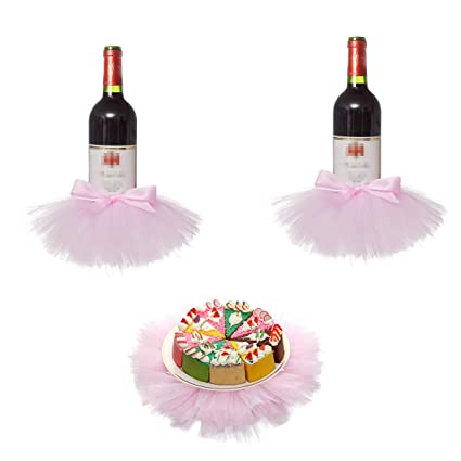 763e95fa9b Amazon.com: Bottle Cover Tutu Skirt Table Center Piece for Dessert Table  Decoration,Wedding,Meetings,Birthdays,Baby Shower Decorations: Toys & Games
