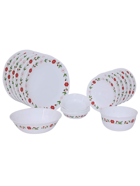 Corelle 20 PieceSpring Pink Livingware Dinnerware Set, White 1123913