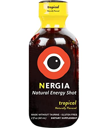 Nergia Natural Energy Shots – Tropical Flavor – 8 Pack Tropical