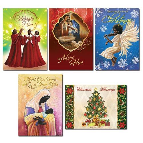 Black Christmas Cards Assortment