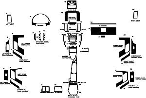 Rvinyl Rdash Dash Kit Decal Trim for Land Rover LR2 2008-2015 - Chrome (Purple)
