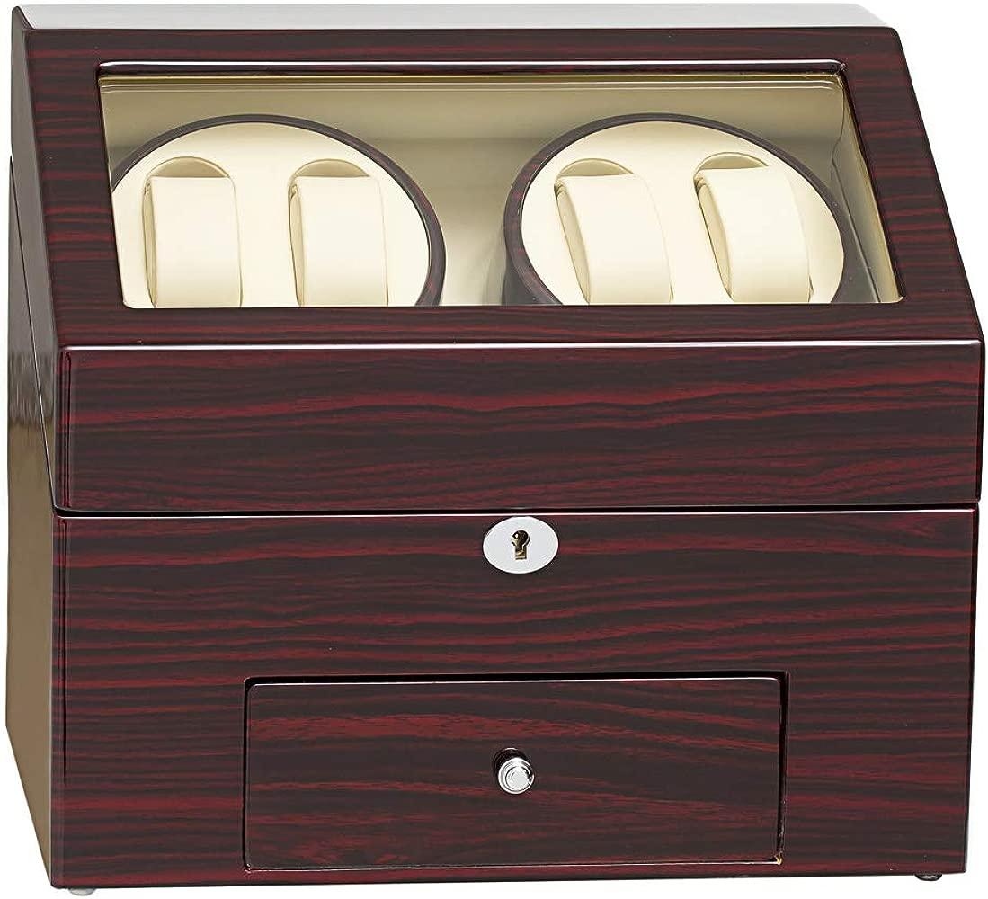 Caja expositora de madera con cargador para relojes ...