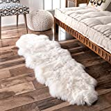 Nuloom 1'10 x 5'7 Hand Made Due Sheepskin Rug in Natural Review
