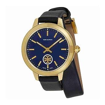 ba597e222378 Amazon.com  Tory Burch Collins Navy Blue Dial Double Wrap Ladies Watch  TB1303  Watches