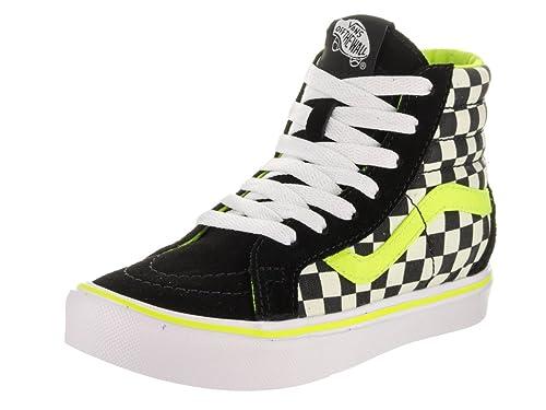 be2abb1873 Vans Kids Sk8-Hi Reissue Li (Freshness) Black White Skate Shoe 1