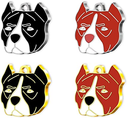 Personalizzati Pet Tag Art Medagliette Chinese Lion Dog Targhetta di identificazione per Animali Domestici
