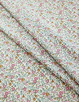 3 Colors Selection C85080 Little Rose Pattern Cotton Fabric by Yard