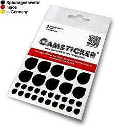 SPIONAGEABWEHR - 30 Stk. CAMSTICKER® Ø6mm & Ø15mm- KOMBI-SET - schwarz MATT - Kamera Aufkleber für integrierte Miniwebcams - Für Smartwatch, Handy, Tablet, Notebook, Laptop, Monitor & Fernseher