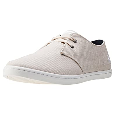 Fred Perry Men's Byron Low Twill Natural/Snow White Shoe