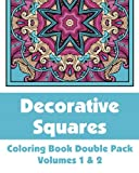 Decorative Squares Coloring Book Double Pack (Volumes 1 And 2), Various, H.R. Wallace Publishing, 1499285396