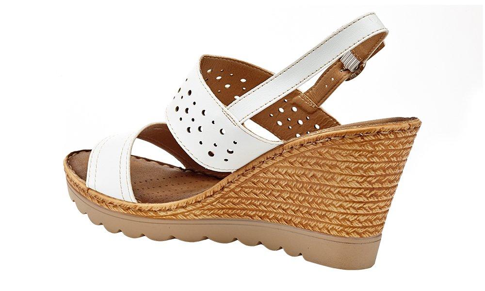 c9e73b6918a ... Lady Godiva Women s Open Toe Wedge Sandals Multiple Styles B079YYJBPW  4956 9 B(M) ...