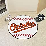 "Fan Mats 6328 MLB - Baltimore Orioles 29"" Diameter Baseball Shaped Area Rug"