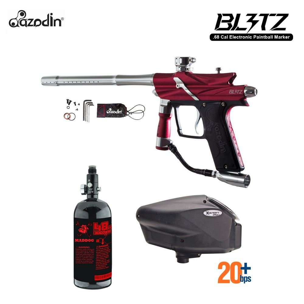 MAddog Azodin Blitz 3 HPA Paintball Gun Package - Red by MAddog
