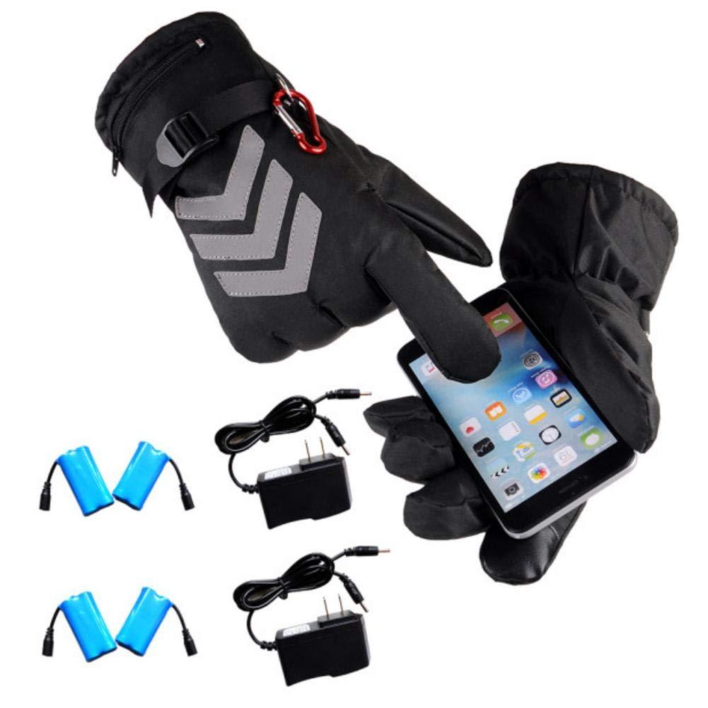 Luerme 電池式 充電式 電気加熱グローブ 防水 断熱 夜間反射 バックタッチスクリーン オートバイ 加熱グローブ ウォーマー メンズ レディース 1Pair * Gloves + 2Pair Gloves + 2 * Charger B07JZDX5SV