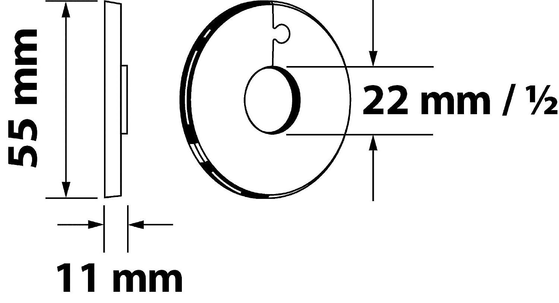 Embellecedor para techo 19222 4 di/ámetro exterior de 40/mm 12/mm set de 4,/de color blanco