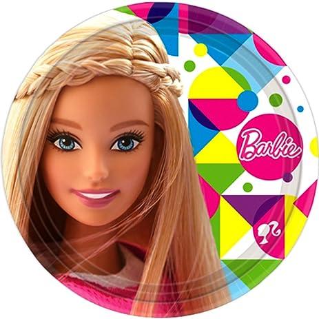 Barbie u0027Sparkleu0027 Large Paper Plates ...  sc 1 st  Amazon.com & Amazon.com: Barbie u0027Sparkleu0027 Large Paper Plates (8ct): Toys u0026 Games