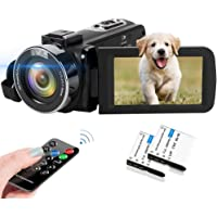 Video Camera 2.7K Camcorder 42MP 18X Digital Camera Video Camera for YouTube 3.0inch Flip Screen Camcorder Vlogging…