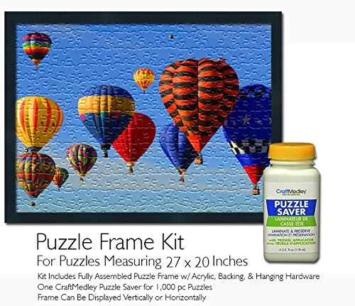 Jigsaw Puzzle Frame Kit - for 27x20 Inch Puzzles - Craft Medley Puzzle Saver