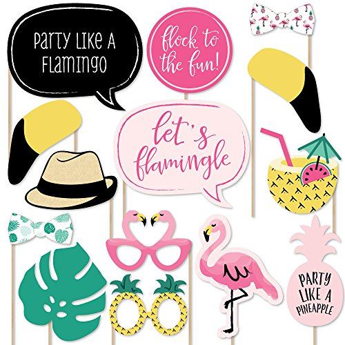 Flamingo Party Pineapple Photo Booth