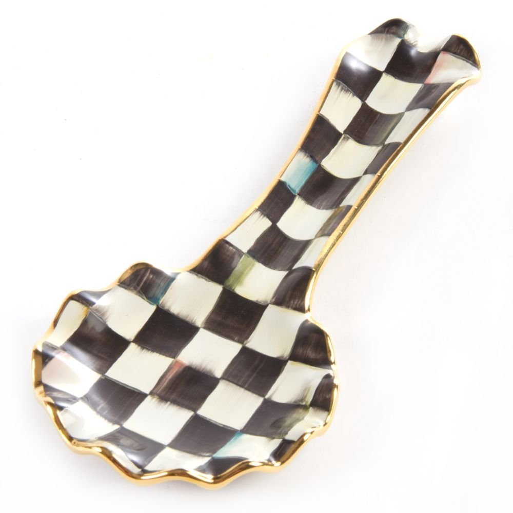 Mackenzie-Childs Courtly Check Spoon Rest by MacKenzie-Childs