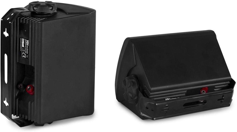 4 Woofer Indoor-//Outdoor-Nutzung Flansch-Anschluss Wandhalterung 2-Wege-Lautsprecher 3//4 Hochtontreiber Power Dynamics BGO40 Lautsprecher-Set Peak-Leistung: 100 Watt schwarz