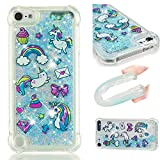 DAMONDY iPod Touch 6,iPod Touch 5 Liquid Case, 3D Pattern Cute Bling Liquid Glitter Hybrid Shockproof Bumper Floating Quicksand Diamond Flowing Soft TPU Case for Apple iPod Touch 6th/5th-xinshima