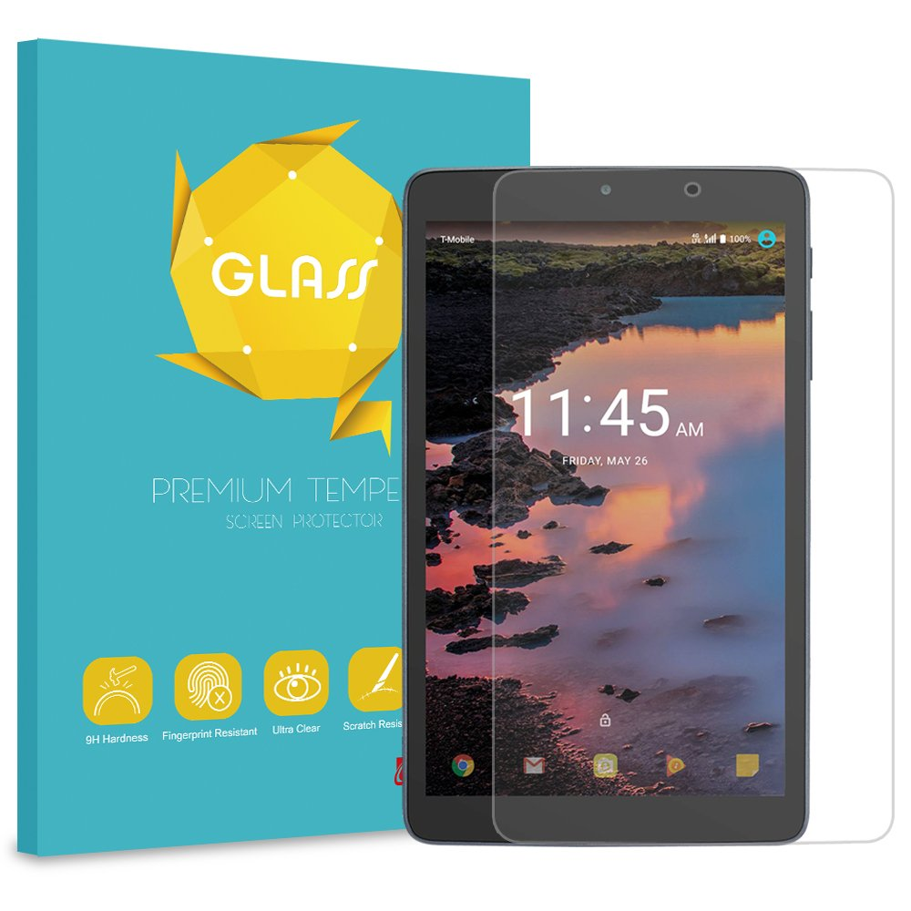 3-Pack SOINEED T-Mobile Alcatel A30 8/'/' Tablet Tempered Glass Screen Protector