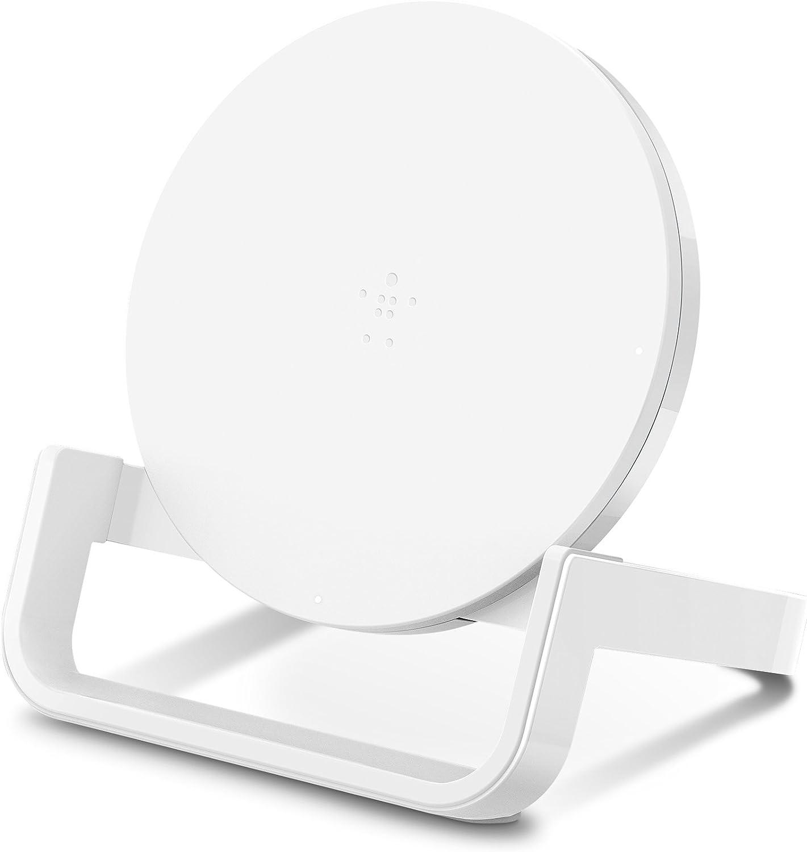 Negro Cargador inal/ámbrico r/ápido con certificaci/ón Qi para iPhone y tel/éfonos de Samsung Belkin BoostCharge Base de Carga inal/ámbrica de 10 W Google y Otros