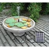 E-Bro® Solar Power Water Pump for Fountain Pool Garden Pond Water Feature Submersible Water Pump 1.5W