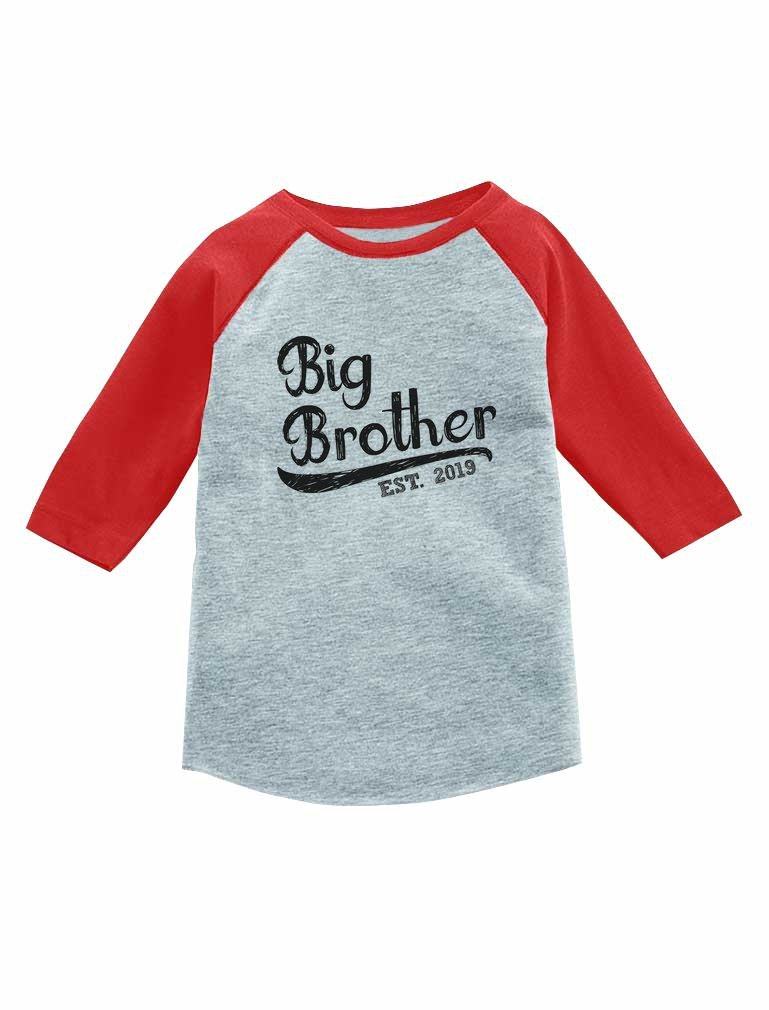 Tstars - Gift for Big Brother 2019 3/4 Sleeve Baseball Jersey Toddler Shirt GaMPth3gm8