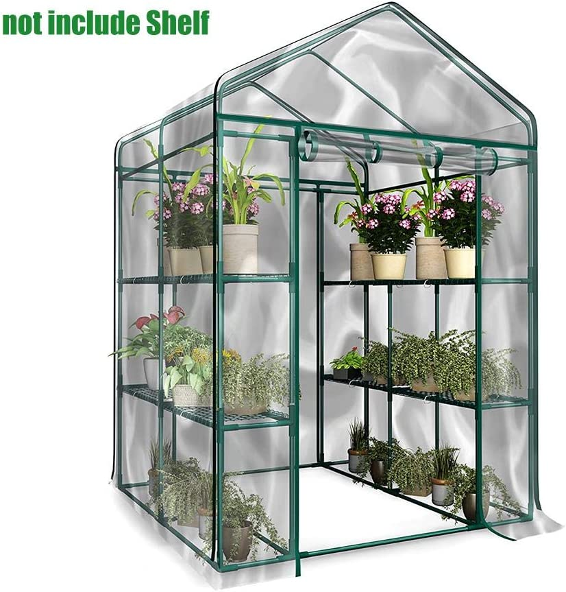 Herbs Flowers Or Tend Potted Plants kaigeli Mini Walk-in Greenhouse Indoor Outdoor,PVC Corrosion-Resistant Plants Warmhouse Garden Tier Waterproof Greenhouse Cover,Grow Seeds /& Seedlings