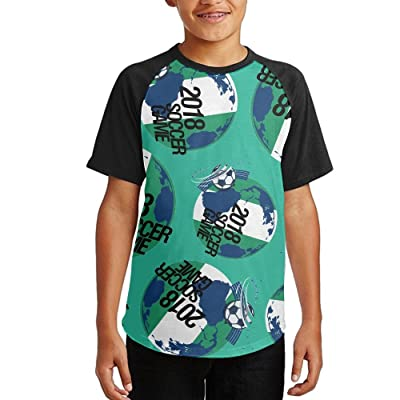 2018 Soccer Game Nigeria Youth Short Sleeves Raglan Print Baseball T Shirts Tees