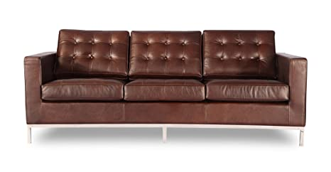 Amazon.com: Kardiel Florence Knoll Style Sofa 3 Seat ...