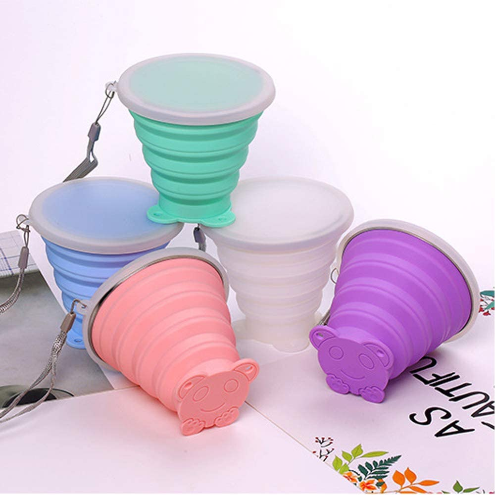 TiooDre Collapsible/Cup Silicone Collapsible Travel Cup Folding Camping Cup Expandable Drinking Cup Set
