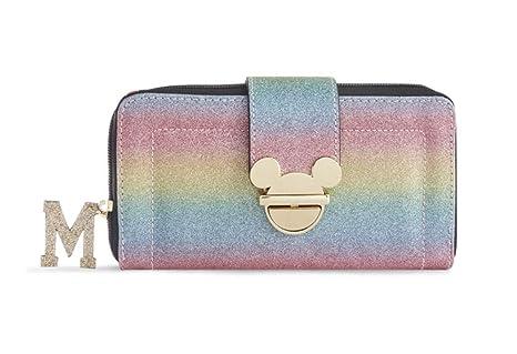 Monedero para Mujer, diseño de Mickey Mouse con Purpurina y ...
