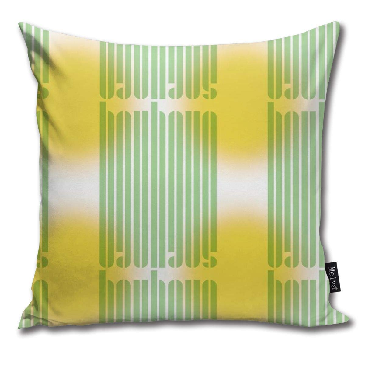Bauhaus Stripe Glow Whitegreensun Throw Pillow Cushion Cover ...