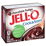 Jell-O Chocolate Fudge Cook & Serve Pudding Mix 3.4 Ounce Box (Pack of 6)