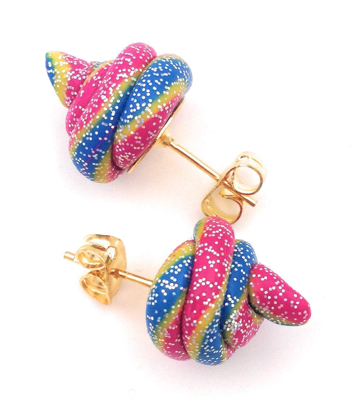Fairy Plops Earrings Rainbow Glitter Sparkle 3