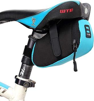 Bolsa para Sillin Bicicleta Bolsa Sillin Bicicleta MontañA Ciclismo Accesorios Ciclismo Bolsa Bolsas de Bicicleta para la Parte Trasera Blue,Free Size: Amazon.es ...
