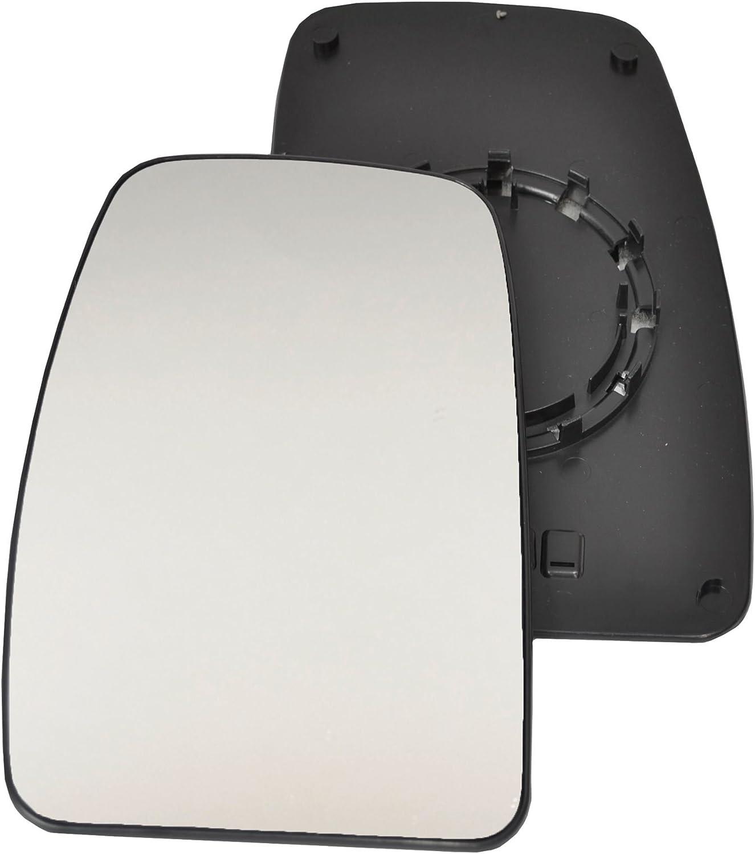 passeggero lato sinistro anta vetro argento specchio con piastra di # c-sn//l-rtmsr03/ clip-on