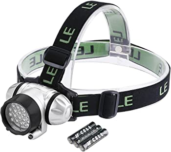 Lighting EVER 4-Modes Battery Powered Helmet Light