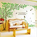 Huge Green Tree Branch DIY Wall Stickers Wall Decals For Baby girls Nursery Rooms Decoration