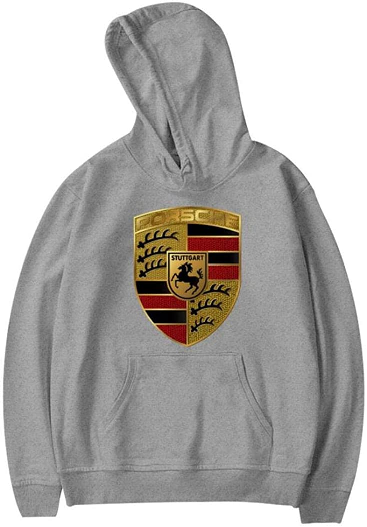 SJUK Pors-Che Car Logo Teen Unisex Hoodies Fashion Sweater for Boys and Girls