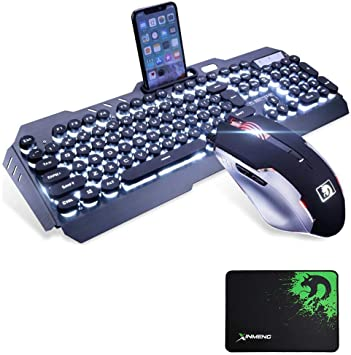 UrChoiceLtd Juego de teclado y ratón de, 2016 Ajazz Battle Axe, teclado usb gamer ergonómico con retroiluminación RGB LED con los 7 colores del ...