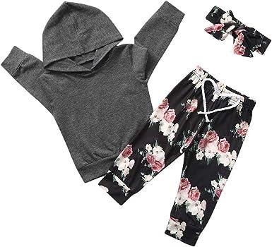 Onefa Newborn Infant Baby Girls Boys Hooded Tops Sweatshirt Plaid Pants Outfits Set