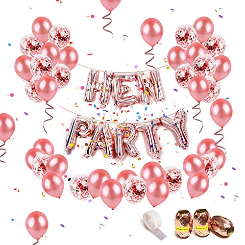 68Pcs Birthday Party Decorations Including 13 Letter Foil HAPPY BIRTHDAY Balloons Banners 15 Pieces Pre Filled Confetti And 36 Latex Rose