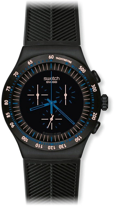 [スウォッチ]SWATCH 腕時計 IRONY THE CHRONO(アイロニー ザ クロノ) BLUE IN DARK YOB103 【正規輸入品】 B0049MOJ0M