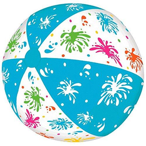Pelota de playa hinchable de rayas azules y tinta, para verano, natación, fiesta, actividades acuáticas y decoración de...